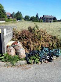 Evacuation déchets vert, Chantier Chambery le Haut, suite dépôt sauvage de déchet vert.